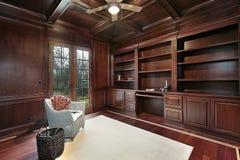 legno dell'incorniciatura della libreria della ciliegia immagine stock libera da diritti