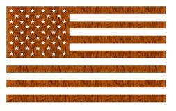 Legno della bandiera americana Fotografia Stock