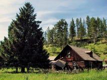 legno della cabina Fotografia Stock