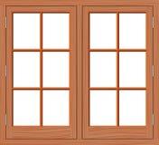 Legno della finestra Fotografia Stock