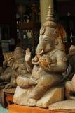 Legno di Ganesh scolpito Immagini Stock