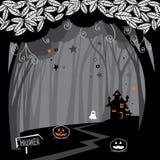 Legno di Halloween Fotografie Stock Libere da Diritti