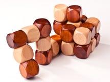 legno di puzzle 3D Fotografie Stock Libere da Diritti
