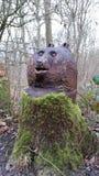 Legno di scultura capo di Linford dell'orso Immagine Stock Libera da Diritti