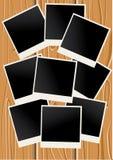 Legno e foto Fotografia Stock