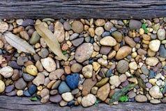 Legno e pietra Immagine Stock