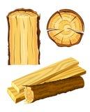 Legno e scheda materiali di legno illustrazione vettoriale