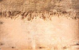 Legno e tessile della canapa immagini stock libere da diritti