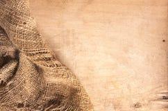 Legno e tessile della canapa Fotografia Stock Libera da Diritti