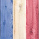 Legno macchiato per U.S.A. o la bandiera della Francia Fotografia Stock