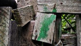 Legno Porta Diriga l'iarda Fotografia Stock Libera da Diritti