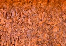 Legno-scultura Fotografia Stock Libera da Diritti