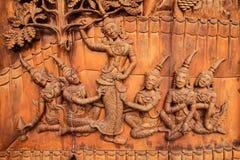 Legno-scultura del Concubine fotografie stock libere da diritti