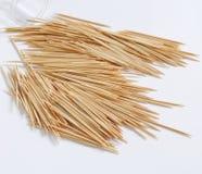Legno toothpicks immagini stock