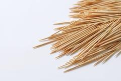 Legno toothpicks immagine stock