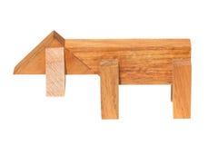 Legno Toy For Kids del cane. Immagine Stock