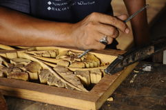 Legno tradizionale malese che scolpisce da Terengganu Immagini Stock Libere da Diritti