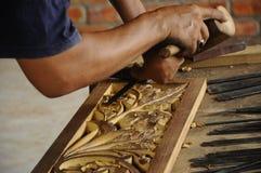 Legno tradizionale malese che scolpisce da Terengganu Fotografie Stock