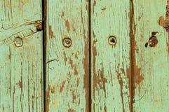 Legno verde dell'annata Fotografia Stock