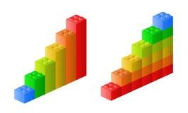 Lego图表 免版税库存图片