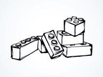 lego ανασκόπηση που σύρει το floral διάνυσμα χλόης απεικόνιση αποθεμάτων