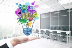lego χεριών δημιουργικότητας έννοιας οικοδόμησης επάνω στον τοίχο απεικόνιση αποθεμάτων