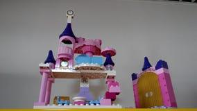 Lego преграждает замок моим сыном стоковые изображения rf