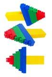 Lego. Plastic construction on white background Stock Image
