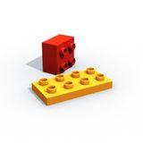 Lego. 2 pieces of lego stock photos