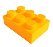 Lego amarelo Foto de Stock Royalty Free