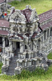 Lego Angkor Wat at Legoland Royalty Free Stock Image