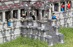 Lego Angkor Wat at Legoland Stock Photography