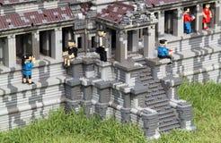 Lego Angkor Wat at Legoland stock photography