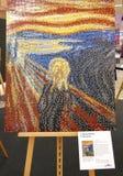 LEGO-Ausstellung, Repliken von berühmten Malereien stockfotos