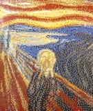 LEGO-Ausstellung, Repliken von berühmten Malereien lizenzfreies stockbild