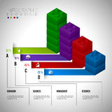 Lego block chart infographic concept teamwwork. Royalty Free Stock Image