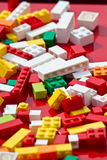 Lego blocks. A few lego blocks photographed with shallow depth of field stock photography