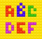 Lego blocks alphabet 1 Stock Photos