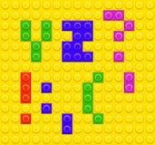Lego blocks alphabet 5 Stock Photo