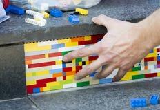 Lego blocks art work Royalty Free Stock Photography
