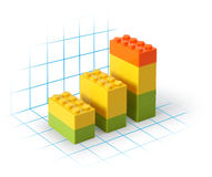 Lego blocks diagram Royalty Free Stock Image