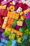 Lego blocks. Plastic construction toy -manufactured by The Lego Group based in Billund, Denmark - illustrative editorial royalty free stock photo