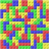 Lego blocks. Blocks of lego stared on tetris game Stock Photos