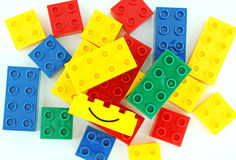 Lego blocks. On white background stock images