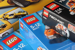 LEGO boxes Stock Image
