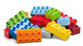 Lego. Brick isolated rectangle fun green white stock photography