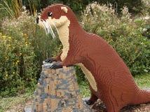 Lego Brick Otter Arkivbild
