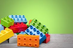 Lego. Brick rectangle fun green white building-block stock photography