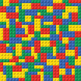 Lego Brick Seamless Background Pattern. Basic colors children popular Lego toy seamless background pattern in format vector illustration