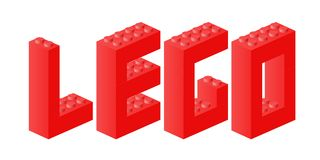 Lego brick sign. Lego sign made of Lego bricks. Vector available Royalty Free Stock Photography